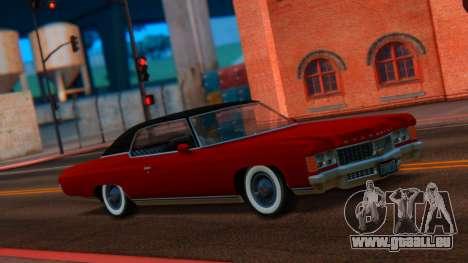 Chevrolet Impala 1971 Retextured für GTA San Andreas zurück linke Ansicht