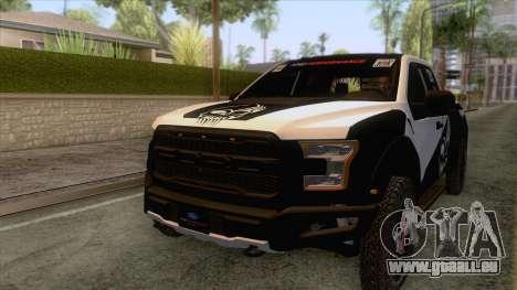 Ford Raptor 2017 Race Truck pour GTA San Andreas vue de dessous