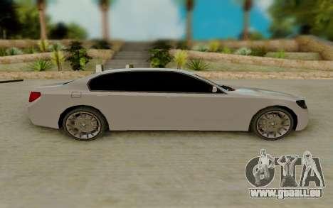 BMW 7 Series 750Li xDrive pour GTA San Andreas laissé vue