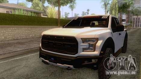 Ford Raptor 2017 Race Truck pour GTA San Andreas vue de dessus