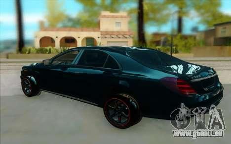Mercedes S500 W222 pour GTA San Andreas vue de droite