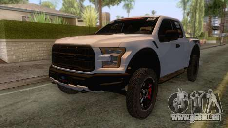 Ford Raptor 2017 Race Truck pour GTA San Andreas sur la vue arrière gauche