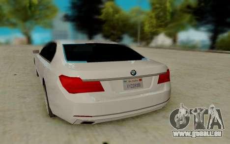 BMW 7 Series 750Li xDrive pour GTA San Andreas vue de droite