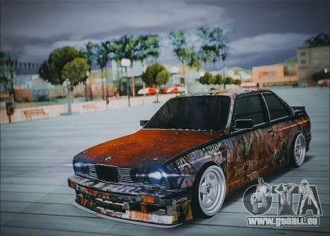 BMW E30 pour GTA San Andreas vue arrière