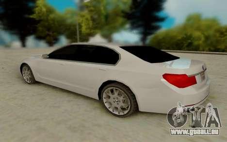 BMW 7 Series 750Li xDrive pour GTA San Andreas sur la vue arrière gauche