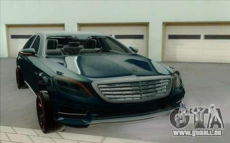Mercedes S500 W222 für GTA San Andreas