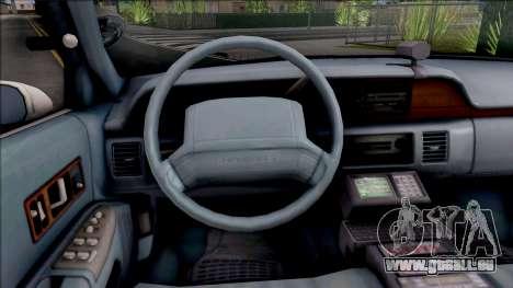 Chevrolet Caprice 1991 R.P.D. für GTA San Andreas Innenansicht