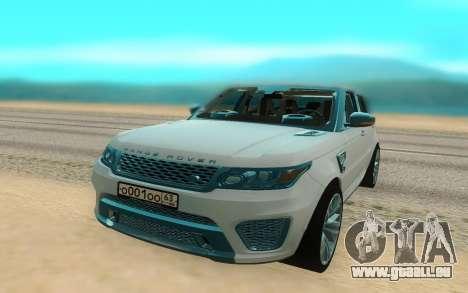 Land Rover Range Rover Sport für GTA San Andreas rechten Ansicht