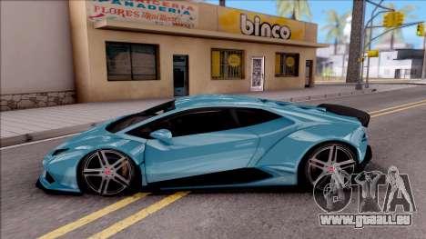 Lamborghini Huracan LB Team-eXtreme pour GTA San Andreas laissé vue