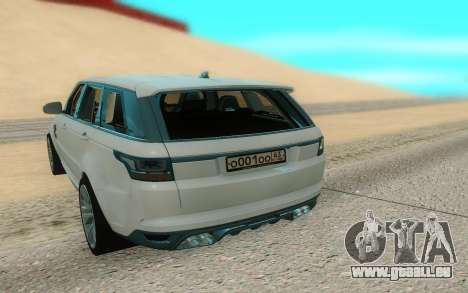 Land Rover Range Rover Sport für GTA San Andreas Rückansicht