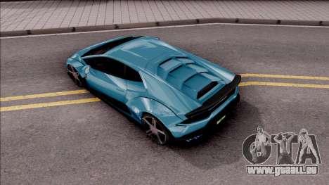 Lamborghini Huracan LB Team-eXtreme pour GTA San Andreas vue arrière