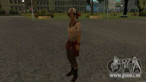 Clementine from The Walking Dead - season 3 pour GTA San Andreas