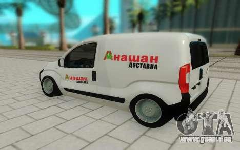 Fiat Fiorino pour GTA San Andreas laissé vue