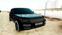 Land Rover Range Rover SVA чёрный pour GTA San Andreas