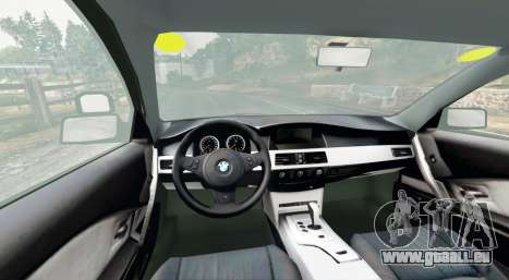 GTA 5 BMW 525d (E60) Metropolitan Police [replace] arrière droit vue de côté