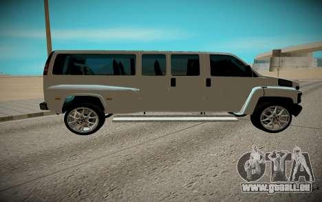 GMC Savana C5500 pour GTA San Andreas sur la vue arrière gauche