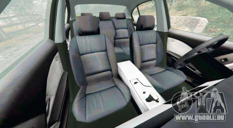 GTA 5 BMW 525d (E60) Metropolitan Police [replace] droite vue latérale