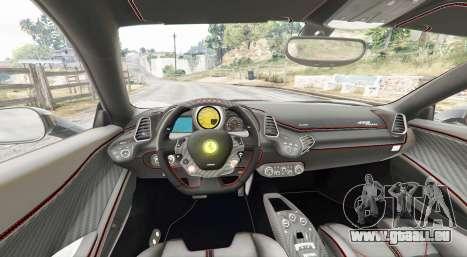 GTA 5 Ferrari 458 Italia 2009 v2.3 [replace] arrière droit vue de côté