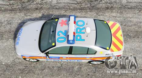GTA 5 BMW 525d (E60) Metropolitan Police [replace] vue arrière