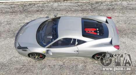 GTA 5 Ferrari 458 Italia 2009 v2.3 [replace] vue arrière