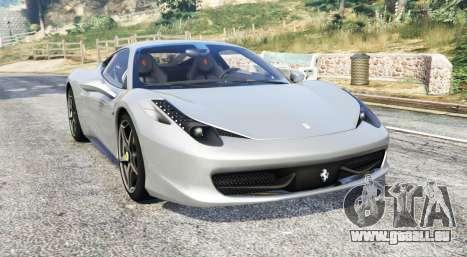 Ferrari 458 Italia 2009 v2.3 [replace] pour GTA 5