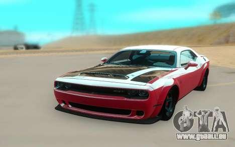 2018 Dodge Challenger Demon SRT für GTA San Andreas rechten Ansicht