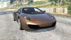 McLaren MP4-12C 2011 v1.1 [replace] pour GTA 5