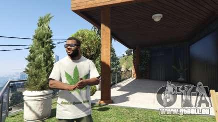 T-Shirt Vert Feuille pour GTA 5