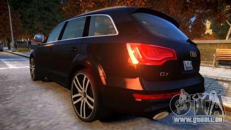 Audi Q7 V12 TDI 2009 Baku Style (fix parameters) pour GTA 4 Vue arrière de la gauche