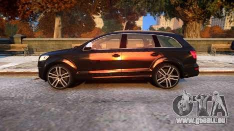 Audi Q7 V12 TDI 2009 Baku Style (fix parameters) pour GTA 4 est une gauche