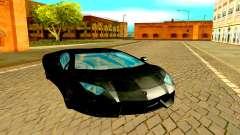 Lamborghini Aventador чёрный pour GTA San Andreas