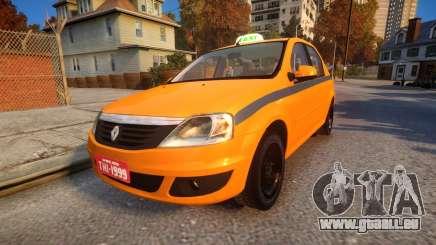 Renault Logan 2013 Taxi Do Rio De Janeiro pour GTA 4