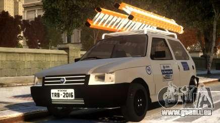Fiat Uno com Escada pour GTA 4