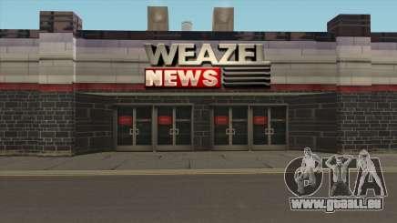Die WEAZEL-News-Gebäude für GTA San Andreas