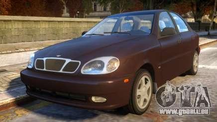 Daewoo Lanos Sedan SX US 1999 pour GTA 4