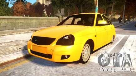 Lada Priora 2172 Buynuz Perde pour GTA 4
