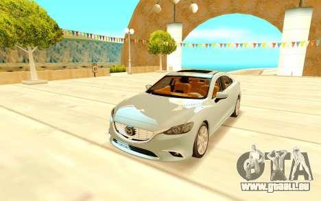 Mazda 6 pour GTA San Andreas vue arrière
