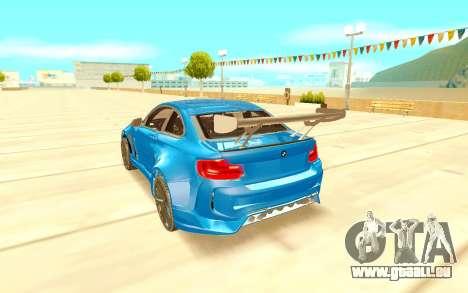 BMW M2 pour GTA San Andreas sur la vue arrière gauche