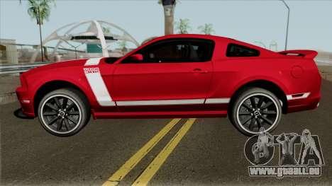 Ford Mustang Boss 302 pour GTA San Andreas laissé vue