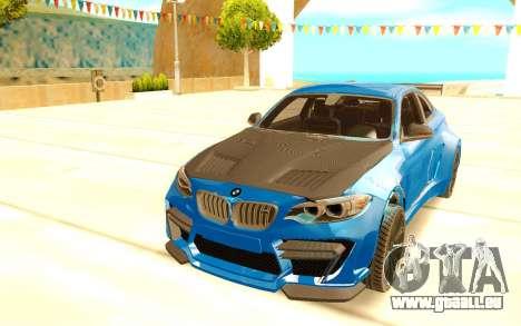 BMW M2 pour GTA San Andreas vue arrière