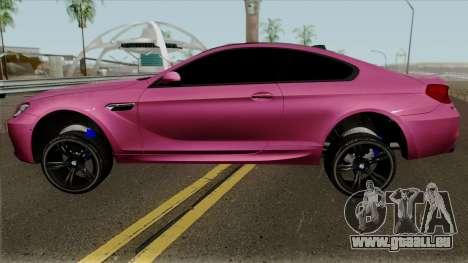 BMW M6 F13 Akrapovic pour GTA San Andreas laissé vue