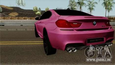 BMW M6 F13 Akrapovic pour GTA San Andreas sur la vue arrière gauche
