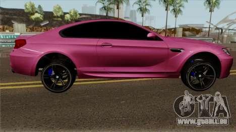 BMW M6 F13 Akrapovic pour GTA San Andreas vue arrière