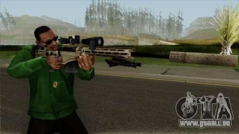 Remington MSR pour GTA San Andreas troisième écran