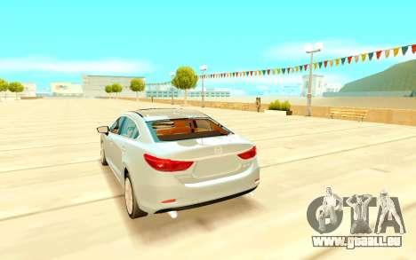 Mazda 6 pour GTA San Andreas sur la vue arrière gauche