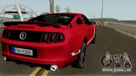 Ford Mustang Boss 302 pour GTA San Andreas vue de droite
