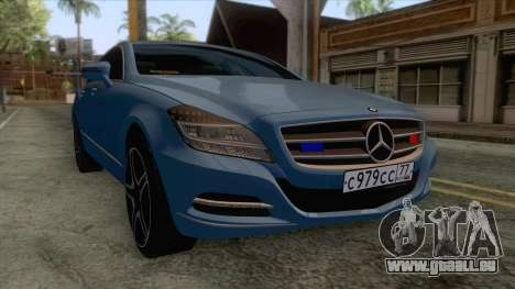 Mercedes-Benz CLS 63-AMG für GTA San Andreas zurück linke Ansicht