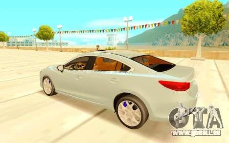 Mazda 6 pour GTA San Andreas vue de droite
