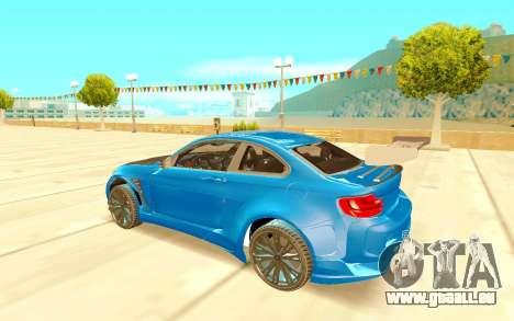 BMW M2 pour GTA San Andreas vue de droite
