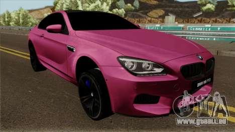 BMW M6 F13 Akrapovic pour GTA San Andreas vue intérieure